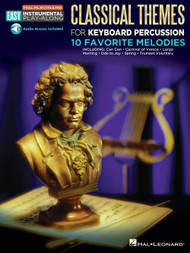 Hal Leonard Easy Instrumental Play-Along - Classical Themes for Keyboard Percussion: 10 Favorite Melodies (with Audio Access)