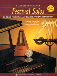 Standard of Excellence: Festival Solos, Book 1 for Snare Drum & Mallets by Bruce Pearson, Mary Elledge & Dave Hagedorn (Book/CD Set)