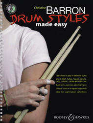Drum Styles Made Easy by Christine Barron (Book/CD Set)