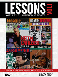 Lessons with the Hudson Greats: A Workbook for Drummers of All Styles for Drumset (Book/DVD Set)