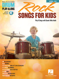 Hal Leonard Drum Play-Along Vol. 41 - Rock Songs for Kids (with Audio Access)