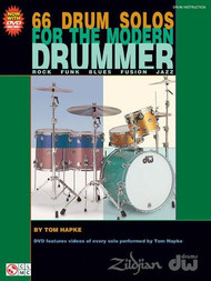 66 Drum Solos for the Modern Drummer by Tom Hapke (Book/DVD Set)