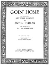 Dvorak - Goin' Home Single Sheet in E-flat for High Voice Solo