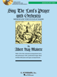 Sing the Lord's Prayer with Orchestra Single Sheet in Key of B-Flat Major (with CD) for Medium Low Voice Solo