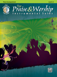 Alfred's Instrumental Play-Along - Top Praise & Worship Instrumental Solos, Level 2-3 (Book/CD Set) Piano Accompaniment