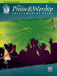 Alfred's Instrumental Play-Along - Top Praise & Worship Instrumental Solos, Level 2-3 (Book/CD Set) for Viola / Piano Accompaniment