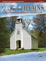 Alfred's Instrumental Play-Along - Favorite Hymns Instrumental Solos, Level 2-3 (Book/CD Set) for Cello