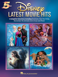 Disney - Lastest Movie Hits - 5-Finger Piano Songbook