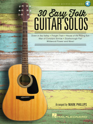 30 Easy Folk Guitar Solos (with Audio Access)