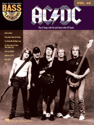 AC/DC -- Hal Leonard Bass Play-Along Volume 40 (Book/CD Set)