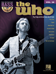 The Who -- Hal Leonard Bass Play-Along Volume 28 (Book/CD Set)