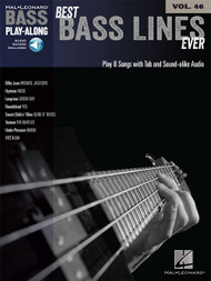 Best Bass Lines Ever -- Hal Leonard Bass Play-Along Volume 46 (with Audio Access)