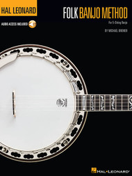 Hal Leonard Bass Method - Folk Banjo Method for 5-String Banjo (with Audio Access) by Michael Bremer