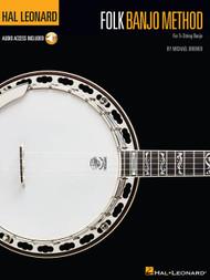 Hal Leonard Bass Method - Folk Banjo Method for 5-String Banjo (with Audio Access) by Michael Bremer