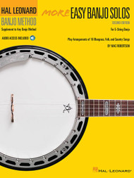 Hal Leonard Banjo Method - More Easy Banjo Solos - 2nd Edition (with Audio Access) by Marc Robertson