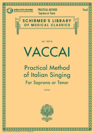 Vaccai - Practical Method of Italian Singing for Soprano or Tenor (Paton) w/Audio