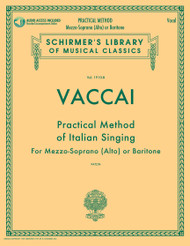 Vaccai - Practical Method of Italian Singing with piano Accompaniment (Mezzo-Soprano or Baritone) w/CD