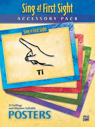 Sing at First Sight (Accessory Pack) 32 Solfege and Rhythm Syllable Posters