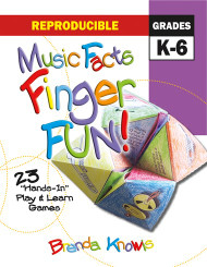 Reproducible Music Facts Finger Fun! (Grades K-6)