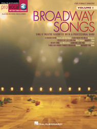 Broadway Songs - Pro Vocal Vol 1 - Female Singers
