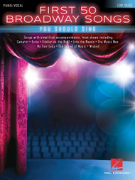 First 50 Broadway Songs (Low Voice) - Piano/Vocal Songbook