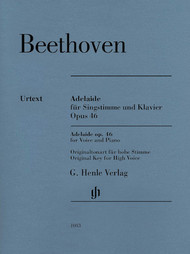 Beethoven Adelaide Op. 46 for Voice and Piano