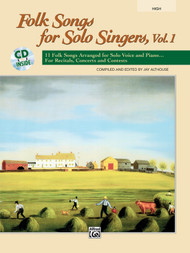 Folk Songs for Solo Singers, Vol. 1 (High Voice) w/Audio Accompaniment