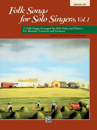 Folk Songs for Solo Singers, Vol. 1 (Medium Low)
