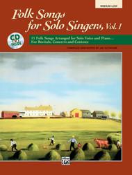 Folk Songs for Solo Singers, Vol. 1 (Medium Low) w/Audio Accompaniment