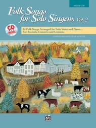 Folk Songs for Solo Singers, Vol 2 (Medium Low Voice) w/CD