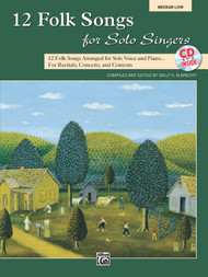 12 Folk Songs for Solo Singers (Medium Low) w/CD
