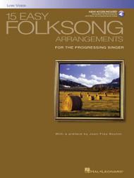 15 Easy Folksong Arrangements (Low Voice) - w/Audio Access