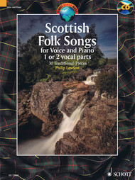 Scottish Folk Songs for Voice and Piano (1 or 2 vocal parts) - w/CD