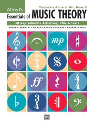 Alfred's Essentials of Music Theory - Teacher's Activity Kit Book 3