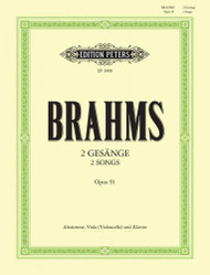 2 Songs Opus 91 by Brahms for Alto, Viola (Violoncello) and Piano