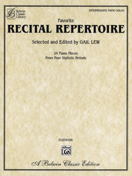 Favorite Recital Repertoire for Intermediate Piano Solo