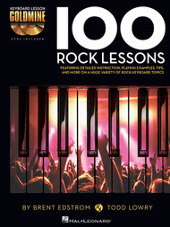 100 Rock Lessons (Book/CD Set) for Intermediate to Advanced Piano/Keyboard