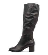 SLED Knee High Boots in Black Leather