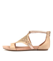 JIMBLE Sandals in Nude/ Rose Gold Leather