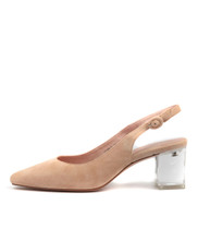 HINNIS High Heels in Nude Suede