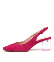 HINNIS High Heels in Pink Suede