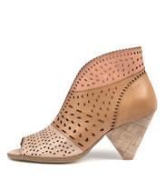 OSHI Heeled Sandals in Nude/ Tan/ Blush Leather