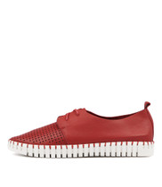 HUSTON Flats in Red Leather