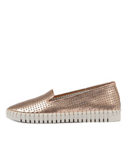 HOLLIE Flats in Rose Gold Leather