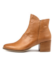 MOCKAS Ankle Boots in Dark Tan Leather