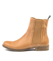 COLLAS Ankle Boots in Tan Leather