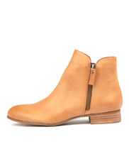 FABIAN Ankle Boots in Dark Tan Leather