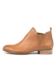 FOE Ankle Boots in Dark Tan Leather