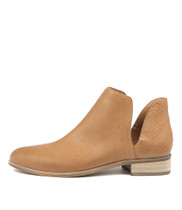 IDIOS Ankle Boots in Dark Tan Leather