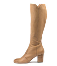 DELIVER Knee High Boots in Tan Leather
